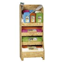 Wholesale Retail Store Floor Wooden Display Stands For Book , 4 Tier Environmental Shelf from china suppliers
