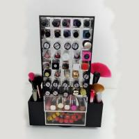 Wholesale Acrylic Makeup Organizer for Brush Compartment Plexiglass Rotating Lipstick Display from china suppliers