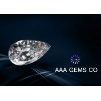 Wholesale Pear Cut White Moissanite Loose Diamonds For Handbags 5mm x 8mm from china suppliers