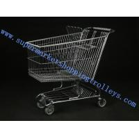 Wholesale Retail Shopping Cart 180L Steel wire For Baby Seat ,  Wheels from china suppliers