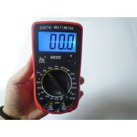 Wholesale Red Portable AC DC Voltage LCD Digital Multimeter with Blue light from china suppliers