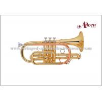 Wholesale Brass Musical Instruments , Y style Brass Lacquer Bb Key Stainless steel China Cornet (CN8711G) from china suppliers