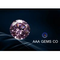 Wholesale OEM / ODM Light Pink Round Moissanite , 6mm Moissanite Diamonds from china suppliers