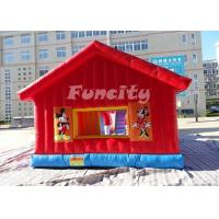Quality 2 Years Warranty Inflatable Jumping Castle / Bouncy Castle 0.55 Mm Pvc Tarpaulin for sale