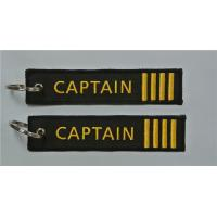 Buy cheap Fabric Captain 4 Bar Pilot Airline Embroidery Key Chain from wholesalers