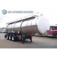 Wholesale 33000 L Acid Solution Chemical Tank Trailer 3 Axle Aluminum Tanker from china suppliers