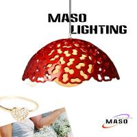 Wholesale Red and White Pinhole Indoor Decoration Resin pendant lights Peanut Print MS-P1017 from china suppliers