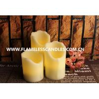 Wholesale Flameless LED Dripping Candles With Real Wax In Ivory , Set of 3 from china suppliers