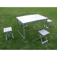 Wholesale Promotion Folding Camping Picnic Table And Chairs For 4 People , Easy To Carry from china suppliers