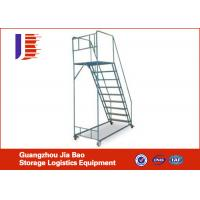 Wholesale Power Coated Mobile Safety Truck Bed Step Ladder For Warehouse Storage from china suppliers