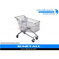 Wholesale Rolling Supermarket Shopping Trolley 4 Wheels Metal Grocery Cart Customized from china suppliers
