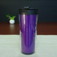 Quality Double Wall 450ml Logo Custom Magic Mug , Heat Sensitive Plastic Mug for sale