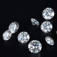 Quality Round Brilliant Cut Genuine Loose Moissanite 1Ct 6.5Mm Off White Gem for sale