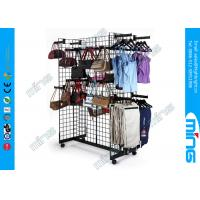 Wholesale Black Rectangle Gridwall Display Racks Faceouts For Clothing Display from china suppliers