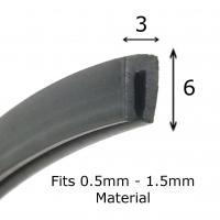 Quality u shaped rubber seal strip EPDM u channel section rubber extrusions glass edge guard protector for sale