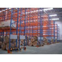 Wholesale 6 Levels Cold Rolling Steel Selective Pallet Racking For Storage , Blue / Orange from china suppliers