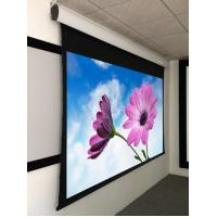 Wholesale Tab Tensioned Motorized Screen For Meeting Rooms , Motorized Rear Projection Screen 120'' from china suppliers