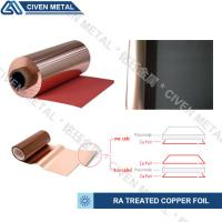 Wholesale Red / Black Fatigue Resistance Treated Ra Copper Foil 12um 18um 25um from china suppliers