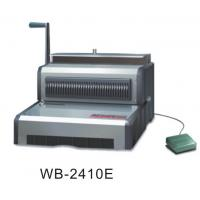 Quality CE Electric Wire Binder Machine 297mm Binding Width For Calendar / Documents WB-2410E for sale