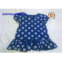 Wholesale 100% Cotton Jersey Cap Sleeve Summer Dress Flower AOP Round Neck With Ruffle Hem Skirt from china suppliers