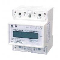 Wholesale 220 / 120V Din Rail Energy Meter , Single Phase KWH Meter With LCD Display from china suppliers