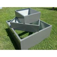 garden planting potmetal planter/galvanized steel garden bed/Metal/Tin/Box/Square/Flower P