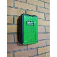 Wholesale 4 Digit Zinc / Aluminum Alloy Door Key Lock Box Wall Mounted Black / Green from china suppliers