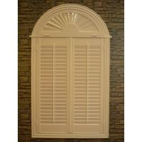 Wholesale indoor 100% basswood arch shutters for windows without control bar from china suppliers