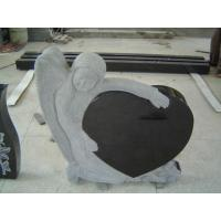 Buy cheap China black angle heart headstone wholesale from wholesalers