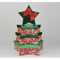 Wholesale Fancy High Gloss Gift Boxes , Four Christmas Star Gift Storage Boxes With Overhanging Lid from china suppliers