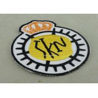 Wholesale Customized Embroidered Badge For Business Promotion , Black Merrow Eedge from china suppliers