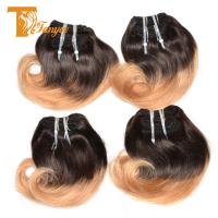 Buy cheap Hot Style 100% Human Hair Ombre 1b/27 8 inch Indian Silky Straight Human Hair from wholesalers