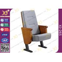 Wholesale Heavy Duty Foldable Tablet Library Auditorium Chairs With Wooden Arm Surface Finish from china suppliers