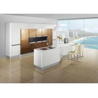 Wholesale Free Standing Brown Painting Modern Kitchen Cabinets , Island Kitchen Cabinet from china suppliers
