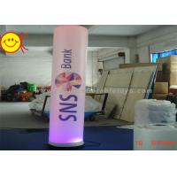 Wholesale Decorative Inflatable Colourful  Lighting Pillar Tube With Digital Printing from china suppliers