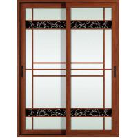 Quality 1.4mm profile thickness white, red wood aluminum sliding glass doors for residential for sale
