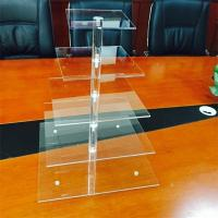 Wholesale square Promotional Acrylic 6 Tiers Tower Wedding Cup Cake Display Stand Rack from china suppliers