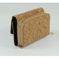 Wholesale Hot Style Mini Nature Cork Raw material Women wallet 15x9cm with card and money slot from china suppliers