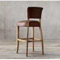 Quality Leather Wooden Upholstered Bar Stools Birch Wood Chairs 48*55*108cm for sale