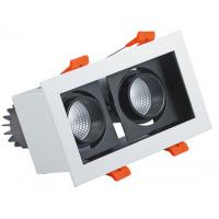 Wholesale Double Head LED Recessed Downlights 160*80mm Rectangle 15° View Angle LED Boutiques from china suppliers