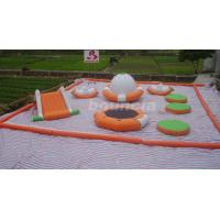 Wholesale 0.9mm PVC Tarpaulin Inflatable Water Park For Kids / Water Inflatable Park With Slide from china suppliers