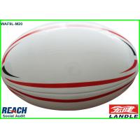 Wholesale Red and White Training Rugby Balls Official American Football Ball from china suppliers