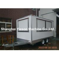 Wholesale Snow White Juice Food Truck Trailers Van Street Coffee Kiosk Three Windows from china suppliers
