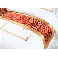 Wholesale Red Queen Size Bed Runners / Linen Decorative Cloth Strip Pattern from china suppliers
