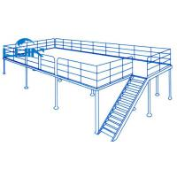 Wholesale Two Level Mezzanine Warehouse System , Powder Coated Mezzanine Floor Systems from china suppliers