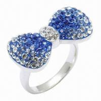 Wholesale Bow Tie Crystal Ring from china suppliers