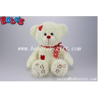 Wholesale Beige Plush Softest Cuddly Stuffed Teddy Bear With Red Heart Patch from china suppliers
