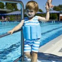 Wholesale Boys Blue Swim Training Floatsuit Swim Aid Blue with stripes from china suppliers