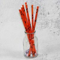 Quality 220mm 250mm longth orange blue  color Wholesale Biodegradable Paper Drinking Straws for Party for sale