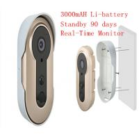 Wholesale 3.6mm Lens WIFI Video Doorbell Real Time Remote Smart Doorphone Build In Battery from china suppliers
